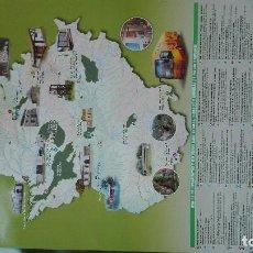 Carteles de Turismo: EXTREMADURA MAPA DE LAS AREAS PROTEGIDAS. Lote 93949080
