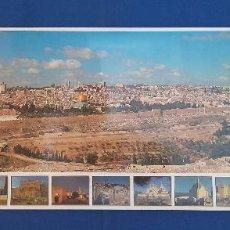Carteles de Turismo: POSTER CARTEL PANORAMICA DE JERUSALEN 99CM. X 34CM. . Lote 95234319