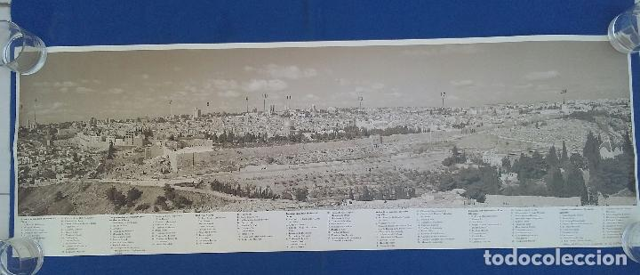 Carteles de Turismo: POSTER CARTEL PANORAMICA DE JERUSALEN 99CM. X 34CM. - Foto 2 - 95234319