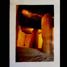 Carteles de Turismo: CARTEL TURISMO DE - ANTEQUERA DOLMEN DE MENGA - AYUNTAMIENTO ANTEQUERA 1987 63X100 CMS. Lote 97009539