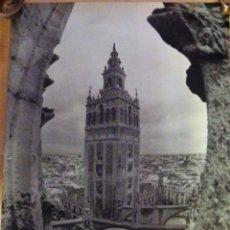 Carteles de Turismo: CARTEL SEVILLA, GIRALDA,1994, FOTO DE ANNA ELIAS Y JULIO DOCE. 68X80 CMS.. Lote 97121339