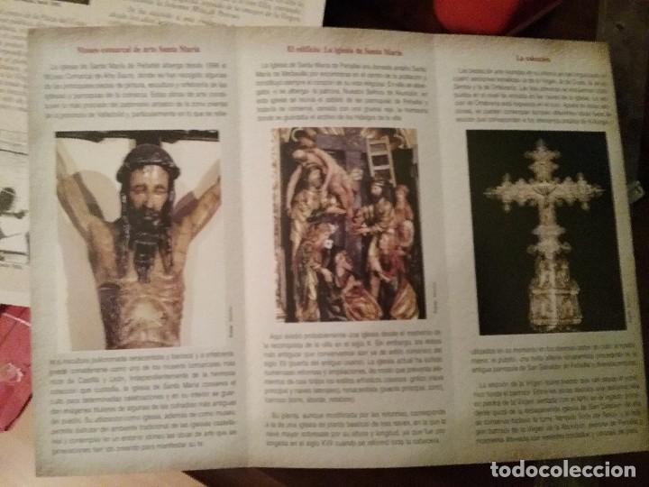 TRÍPTICO IGLESIA DE SANTA MARIA PEÑAFIEL (Coleccionismo - Carteles Gran Formato - Carteles Turismo)