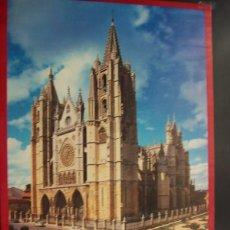 Carteles de Turismo: CATEDRAL DE LEÓN. CARTEL POSTER DE TURISMO JUNTA DE CASTILLA Y LEÓN (70*50CM). Lote 100870707