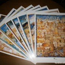 Carteles de Turismo: 8 CARTELES DE LAS PROVINCIAS ANDALUZAS - DIRECCIÓN GENERAL DE TURISMO Y UNICAJA.. Lote 101085803