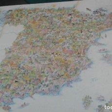 Carteles de Turismo: CARTEL TURISTICO DEL MAPA DE ESPAÑA Y SUS COMUNIDADES TAMAÑO 100X70. Lote 105572351