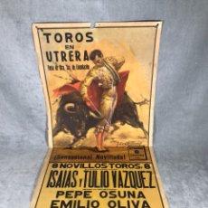 Carteles de Turismo: CARTEL DE TOROS 8 SEP 1961 ISAÍAS Y TULIO VÁZQUEZ. Lote 105941756
