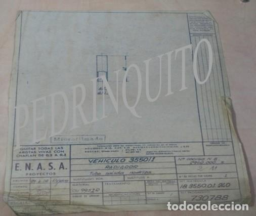 PLANOS RADIADORES Y NODRIZAS PEGASO -ENASA (Coleccionismo - Carteles Gran Formato - Carteles Turismo)