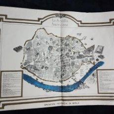 Carteles de Turismo: ANTIGUO CARTEL TURISTICO LA SEVILLA AMERICANA AÑOS 40. Lote 111919375