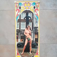 Carteles de Turismo: CARTEL POSTER PHIL BLOOM WOMAN NUDE WITH LOVE FROM HOLLAND - ORIGINAL HIPPIE VINTAGE POP ART DESNUDO. Lote 112788522