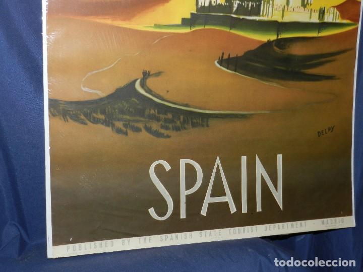 Carteles de Turismo: (M) CARTEL SPAIN ( ESPAÑA ) PATRONATO GENERAL DE TURISMO MADRID , ILUSTRADO POR DELPY - Foto 4 - 114550191