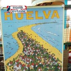 Carteles de Turismo: CARTEL TURISMO DE HUELVA - DESTINO PUNTA UMBRÍA. TAMAÑO 40X68 CM. . Lote 115750559