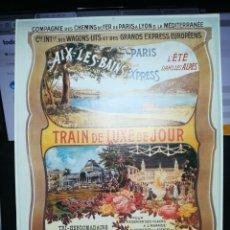 Carteles de Turismo: COMPAÑIA DE FERROCARRILES WAGONS LITS. TRAIN DE LUXE DE JOUR. MEDIDAS 34 X 24 APROX.. Lote 116385943