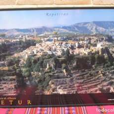 Carteles de Turismo: CARTEL GRANDE PLASTIFICADO Y ENMARCADO. LETUR - PROVINCIA DE ALBACETE. 70 X 100 CMS.. Lote 116639175