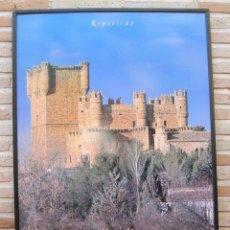 Carteles de Turismo: CARTEL GRANDE PLASTIFICADO Y ENMARCADO. GUADAMUR - CASTILLOS DE TOLEDO. 70 X 100 CMS.. Lote 116641827