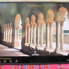 Carteles de Turismo: CARTEL GRANDE PLASTIFICADO Y ENMARCADO. SAUCA . ROMANICO DE GUADALAJARA. 70 X 100 CMS.. Lote 116642075