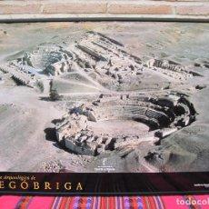 Carteles de Turismo: CARTEL GRANDE PLASTIFICADO Y ENMARCADO. PARQUE ARQUEOLOGICO. SEGOBRIGA ( CUENCA ) 70 X 100 CMS.. Lote 116645403