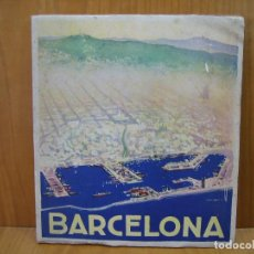 Carteles de Turismo: CATALOGO TURÍSTICO MONUMENTAL DE BARCELONA. Lote 117989059
