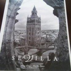 Carteles de Turismo: CARTEL SEVILLA, GIRALDA,1994, FOTO DE ANNA ELIAS Y JULIO DOCE. 90 X 65. Lote 118554623