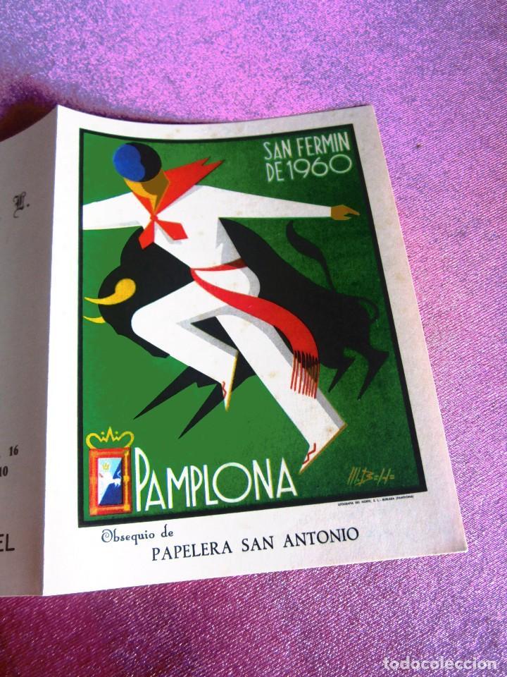 Carteles de Turismo: SAN FERMÍN 1960, CARTEL TOROS PAMPLONA FERIAS Y FIESTAS C16 - Foto 2 - 122459747