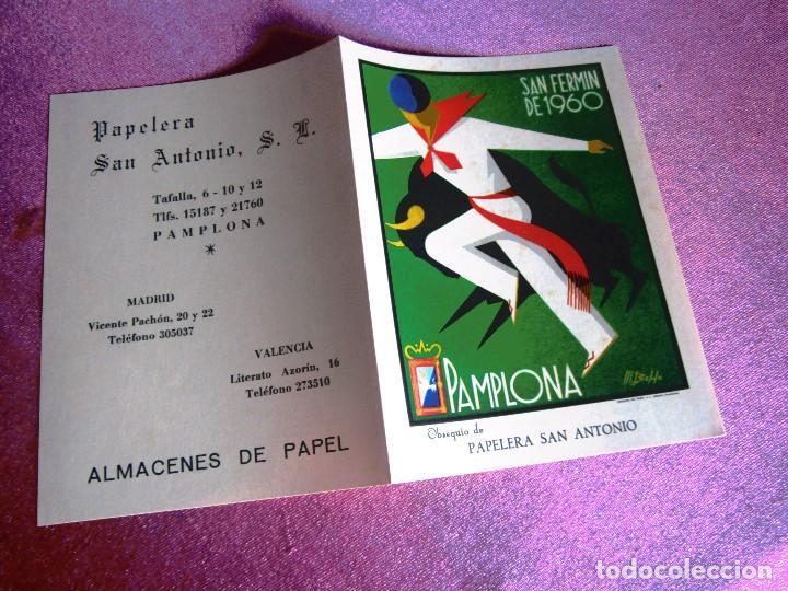 Carteles de Turismo: SAN FERMÍN 1960, CARTEL TOROS PAMPLONA FERIAS Y FIESTAS C16 - Foto 3 - 122459747