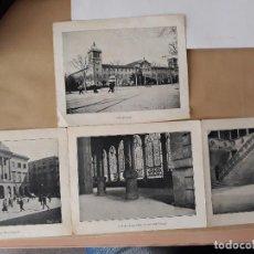 Carteles de Turismo: BARCELONA 4 FOTOGRAMAS INFORMACION Y PRECIOS MUY ANTIGUOS. Lote 124612463