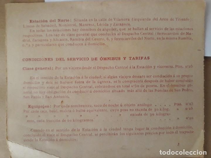 Carteles de Turismo: Barcelona 4 fotogramas informacion y precios muy antiguos - Foto 6 - 124612463