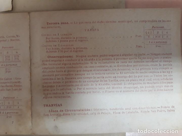 Carteles de Turismo: Barcelona 4 fotogramas informacion y precios muy antiguos - Foto 8 - 124612463