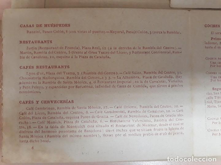Carteles de Turismo: Barcelona 4 fotogramas informacion y precios muy antiguos - Foto 9 - 124612463