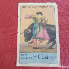 Carteles de Turismo: PROGRAMA DE MANO FERIA DE JULIO VALENCIA AÑO 1949. Lote 128091167