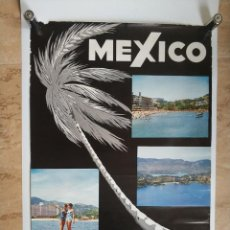 Carteles de Turismo: ANTIGUO CARTEL POSTER MEXICO ACAPULCO CONSEJO NACIONAL DE TURISMO - LEO. Lote 130650243