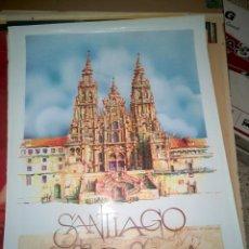 Carteles de Turismo: CARTEL IBERIA - SANTIAGO DE COMPOSTELA. Lote 130964140