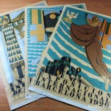 Carteles de Turismo: 3 CARTELES POSTER EXPOSICION INTERNACIONAL DE BARCELONA 1929. EDICION 1969 SEIX BARRAL 31 X 45 CM. Lote 131174840