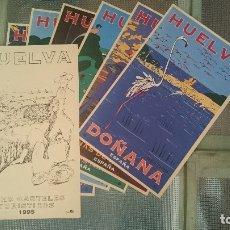 Carteles de Turismo: CARPETA CON 8 CARTELES TURISTICOS HUELVA OSCAR MARINE & CHRISTIAN BOYER 1995. Lote 211394384