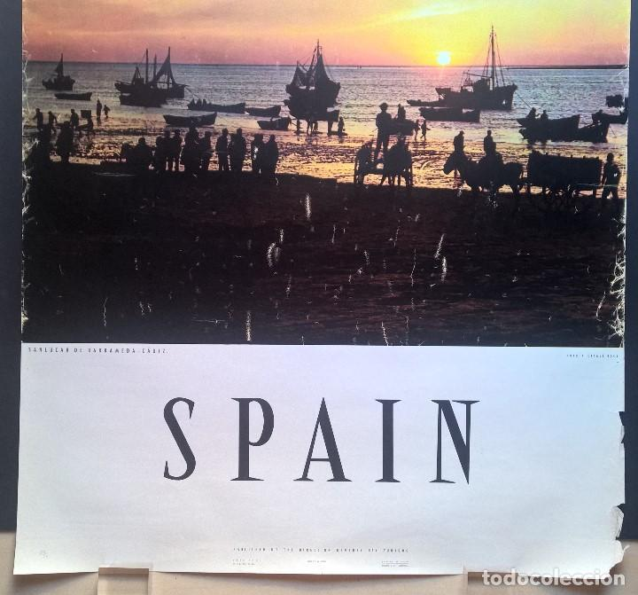 Carteles de Turismo: SANLÚCAR DE BARRAMEDA. CÁDIZ. ESPAÑA. SPAIN. DIRECCIÓN GENERAL DE TURISMO. - Foto 3 - 132914070