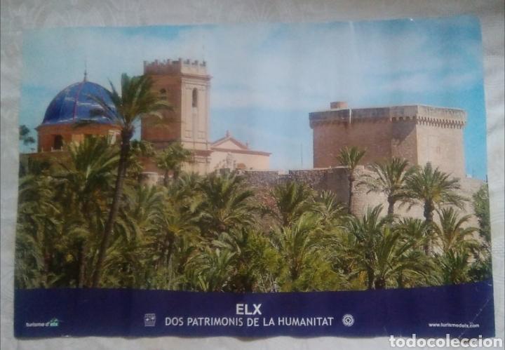 POSTER LÁMINA ELCHE ELX EL PALMERAL PATRIMONIO DE LA HUMANIDAD TURISMO ALICANTE / 60 X 40 CM (Coleccionismo - Carteles Gran Formato - Carteles Turismo)