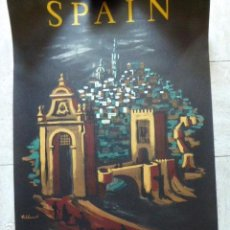 Carteles de Turismo: CARTEL DE TURISMO DE ESPAÑA. TOLEDO. DIBUJADO POR VILLEMOT. FOURNIER. 62 X 97 CM APROX. AÑOS 50-60.. Lote 133808078