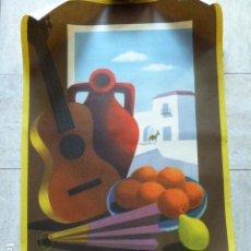 Carteles de Turismo: CARTEL DE TURISMO DE ESPAÑA. DIBUJADO POR GUY GEORGET. FOURNIER. 62 X 97 CM APROX. AÑOS 50-60.. Lote 133808394