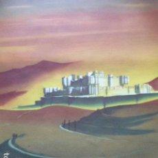 Carteles de Turismo: CARTEL DE TURISMO DE ESPAÑA. AVILA ?DIBUJADO POR DELPY. FOURNIER. 62 X 97 CM APROX. AÑOS 50-60.. Lote 133810454