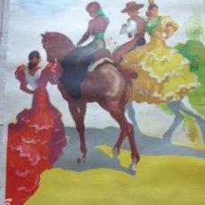 Carteles de Turismo: CARTEL DE TURISMO DE ESPAÑA. DIBUJADO POR MORELL. LIT. ORLA. 62 X 97 CM APROX. AÑOS 50-60.. Lote 133811454