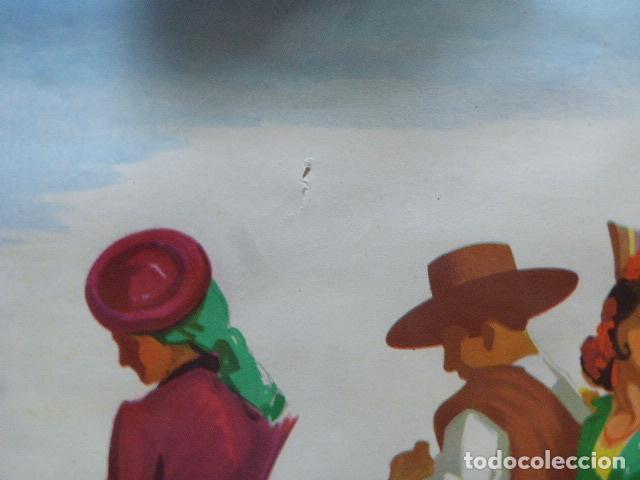 Carteles de Turismo: CARTEL DE TURISMO DE ESPAÑA. DIBUJADO POR MORELL. LIT. ORLA. 62 X 97 CM APROX. AÑOS 50-60. - Foto 2 - 133811454