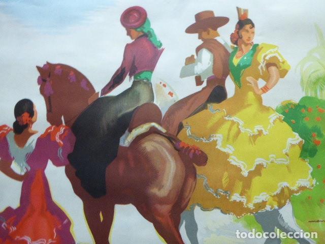 Carteles de Turismo: CARTEL DE TURISMO DE ESPAÑA. DIBUJADO POR MORELL. LIT. ORLA. 62 X 97 CM APROX. AÑOS 50-60. - Foto 3 - 133811454