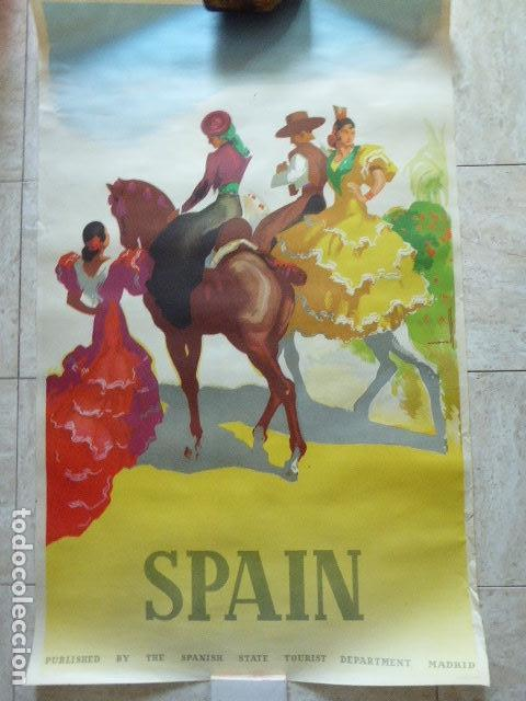 Carteles de Turismo: CARTEL DE TURISMO DE ESPAÑA. DIBUJADO POR MORELL. LIT. ORLA. 62 X 97 CM APROX. AÑOS 50-60. - Foto 4 - 133811454