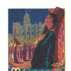 Carteles de Turismo: 1929 - MALAGA SEMANA SANTA - ZARAGOZA - LUCERNA - CARTELES DE TURISMO - LÁMINA ORIGINAL - SIGLO XX. Lote 135040262