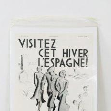 Carteles de Turismo: CARTEL DE HIPÓLITO HIDALGO DE CAVIEDES PÓSTER TURÍSTICO SOBRE ESPAÑA ARTDECO 1930 AFICHE. Lote 137870245