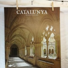 Carteles de Turismo: GENERALITAT DE CATALUNYA. ,AÑO 1979.-----CAJA PENSIONES LA CAIXA-----CONCA BARBERA -MONESTIR POBLET. Lote 139449790