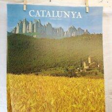 Carteles de Turismo: GENERALITAT DE CATALUNYA. ,AÑO 1979.-----CAJA PENSIONES LA CAIXA-----MONTSERRAT --BAGES. Lote 139450082