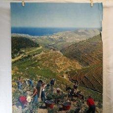 Carteles de Turismo: CARTEL FRANCE --FRANCIA VENDIMIA VINO ROSELLON.CERDAÑA--.PIRINEOS FRANCESES--AÑOS 60. Lote 139462930