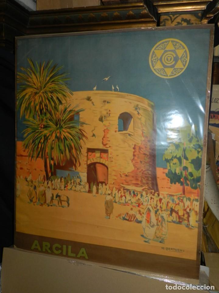 CARTEL ORIGINAL COMITE OFICIAL DE TURISMO ARCILA PROTECTORADO REPUBLICA ESPAÑOLA EN MARRUECOS (Coleccionismo - Carteles Gran Formato - Carteles Turismo)