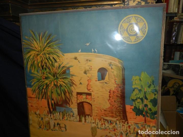 Carteles de Turismo: CARTEL ORIGINAL COMITE OFICIAL DE TURISMO ARCILA PROTECTORADO REPUBLICA ESPAÑOLA EN MARRUECOS - Foto 3 - 139547530