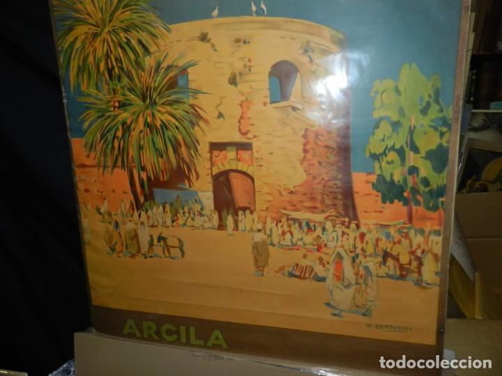 Carteles de Turismo: CARTEL ORIGINAL COMITE OFICIAL DE TURISMO ARCILA PROTECTORADO REPUBLICA ESPAÑOLA EN MARRUECOS - Foto 4 - 139547530